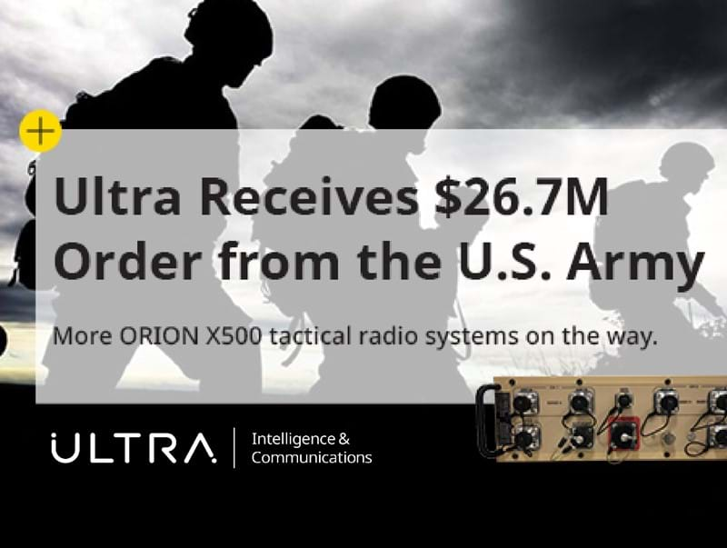 Ultra Receives $26.7M Order for ORION Radio Systems